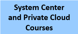 System Center and Private Cloud_Courses